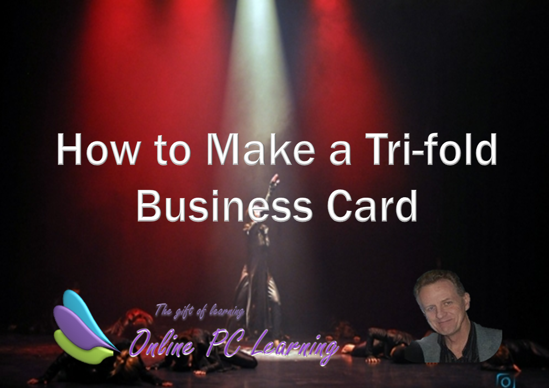 How to make tri fold business cards office tutorials how to make tri fold business cards colourmoves