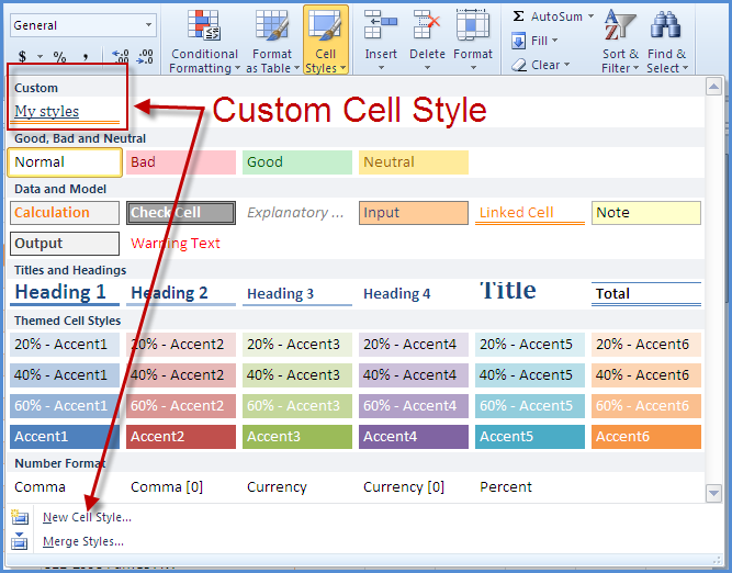 excel 2010 styles and themes online pc learning