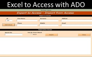 Export to Access