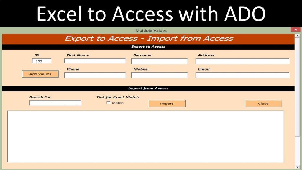 Export from excel to access online pc learning for Export access data to excel template