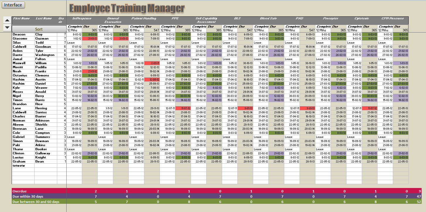 Printables Excel Training Worksheet employee training manager online pc learning manager