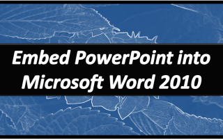 Embed PowerPointWord