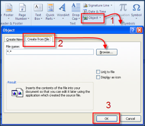 embed powerpoint in word