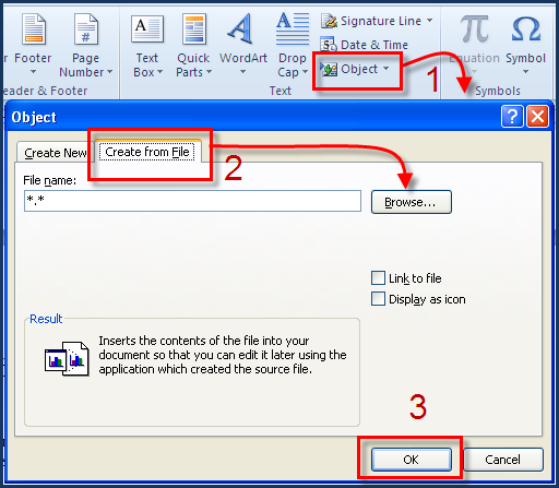 Embed Excel in Word - Embed an Excel File Into a Microsoft