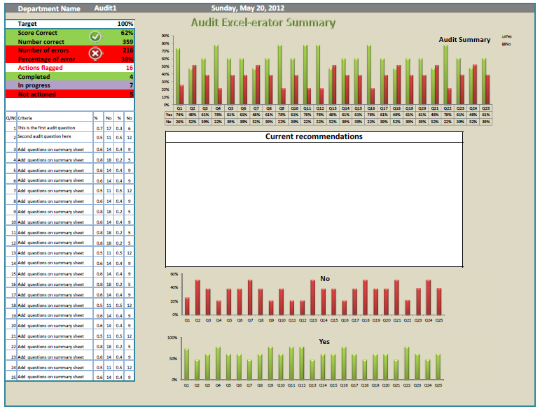 Audit Tool Audit Excel Erator Action Packed Audits Online Pc Learning