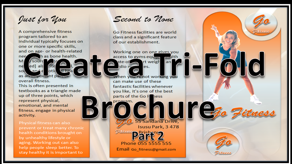 Make brochures that rock and roll powerpoint 2010 for How to design a brochure in word