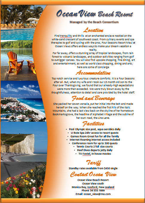 Make A Brochure Factsheet That Rocks Microsoft Word And