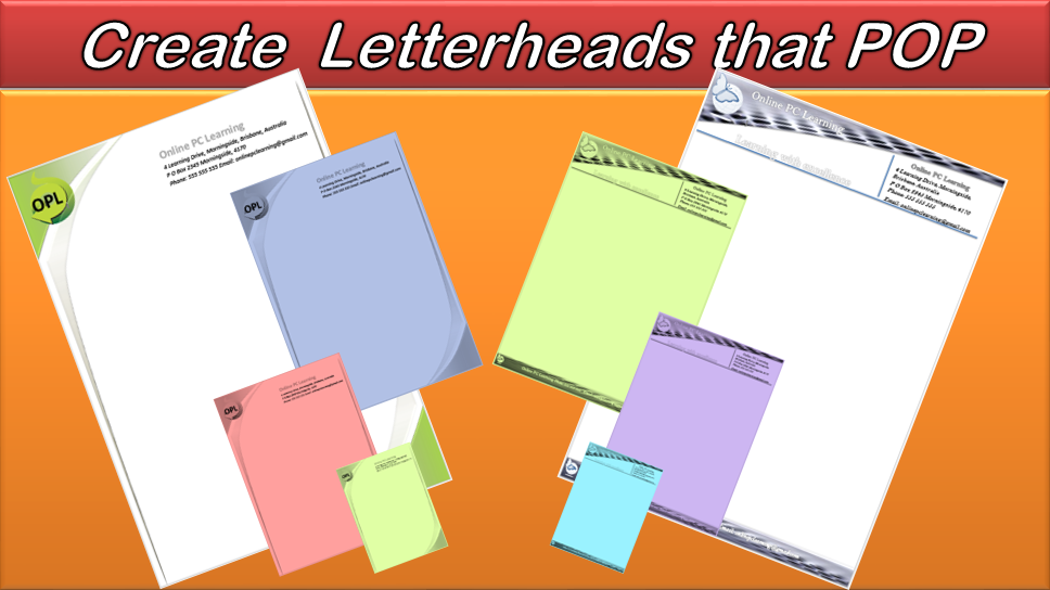 how to create letterhead in word