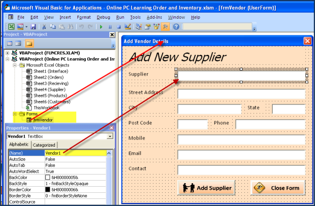 Vba excel order and inventory management excel 2013 for Vendor management excel template