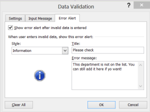 data validation to do list