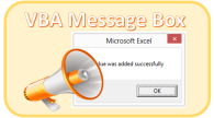message box VBA