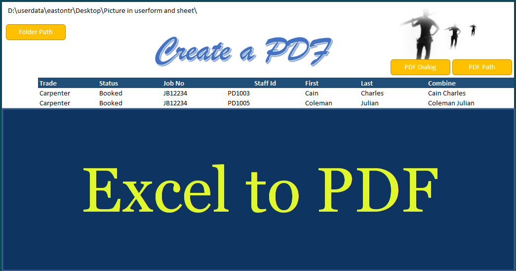 create a pdf in excel - excel to pdf
