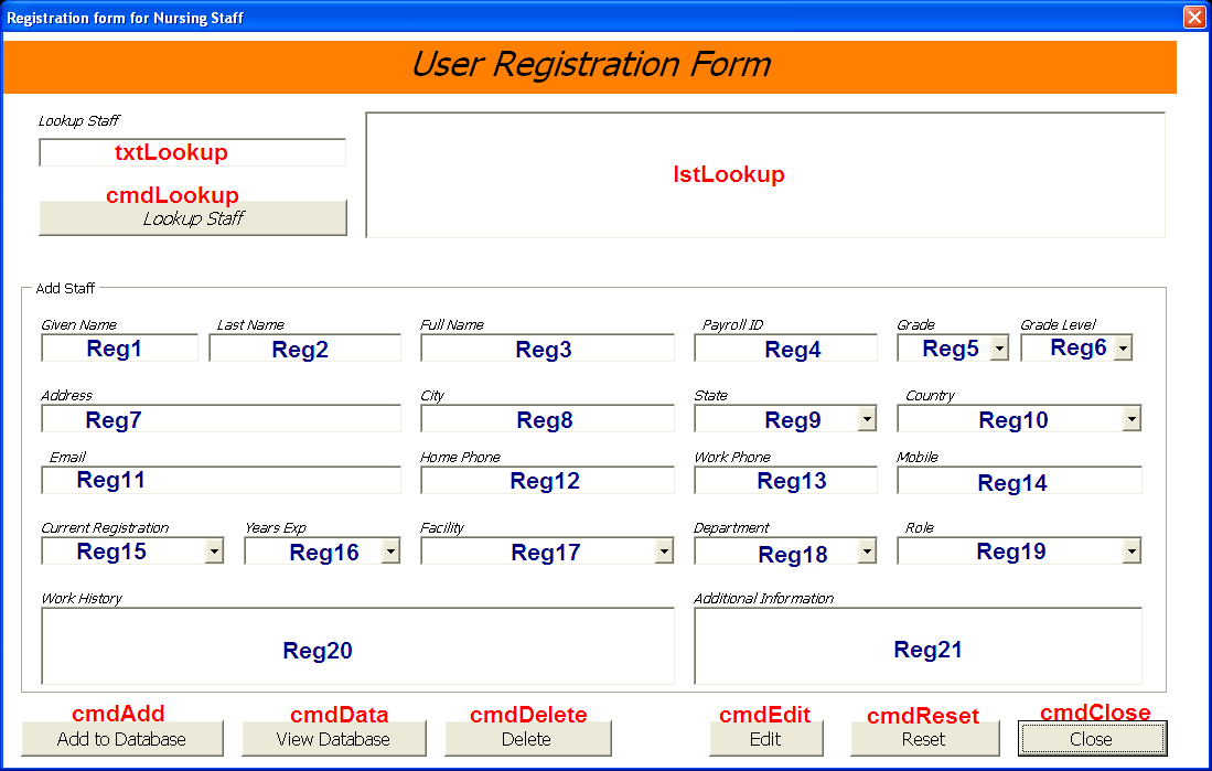 staff database excel awesome userform database online pc learning