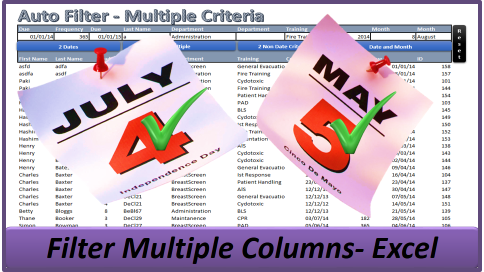 Auto Filter Multiple Columns - Multiple Criteria - Online PC Learning