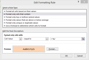 conditional formatting audit