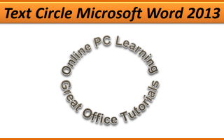 text circle Microsoft Word