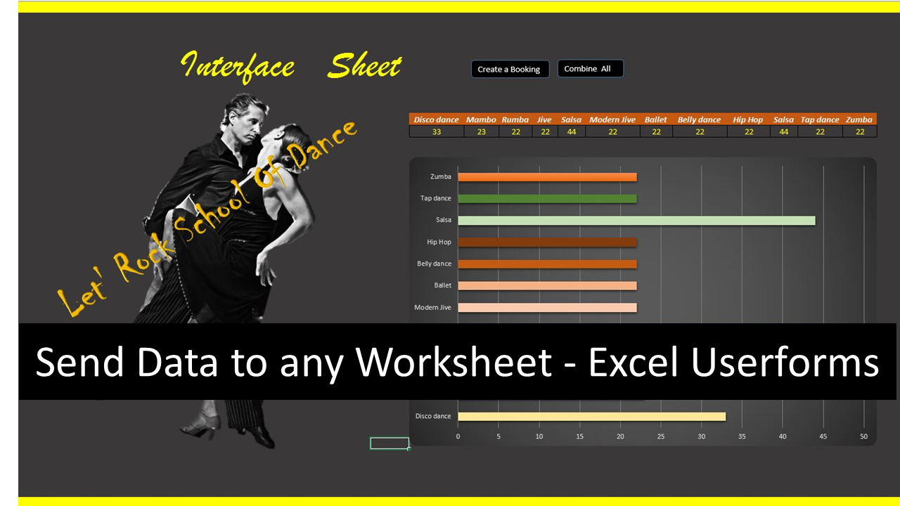Workbooks macro to combine worksheets : Excel Userform to Send Data to any Worksheet - Online PC Learning