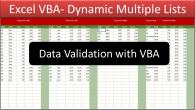 VBA Data Validation Lists