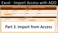 Import from Access