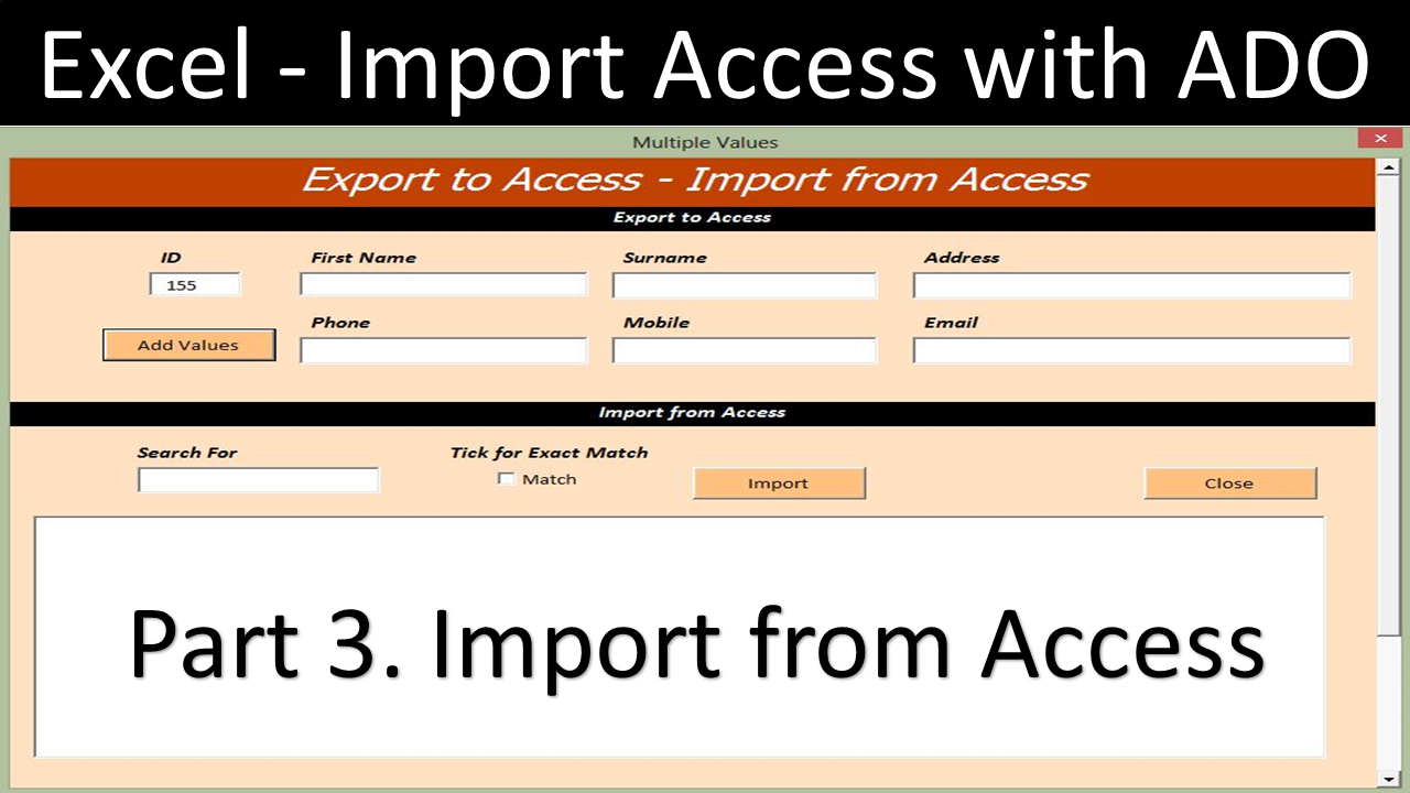 Import from Access to Excel - Online PC Learning