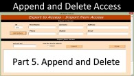 Append and Delete MS Access Record sets